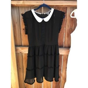 Hot topic chiffon Peter Pan collar dress